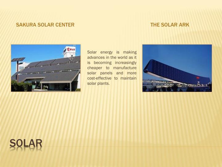 Sakura Solar Center