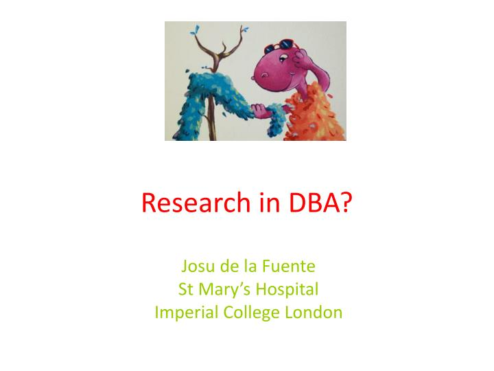 Research in DBA?