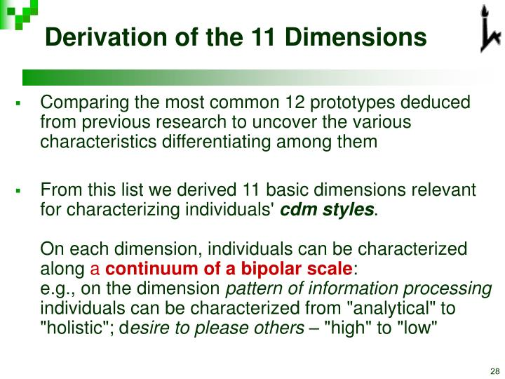 Derivation of the 11 Dimensions
