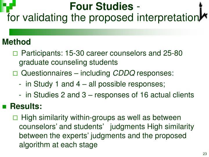 Four Studies