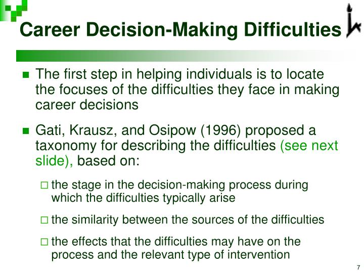Career Decision-Making Difficulties