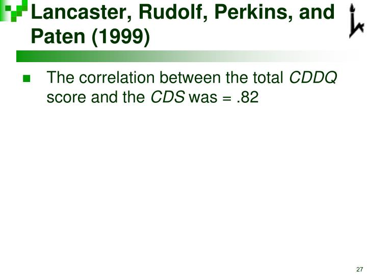 Lancaster, Rudolf, Perkins, and Paten (1999)