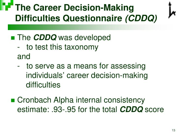 The Career Decision-Making