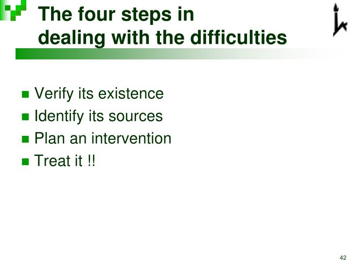The four steps in