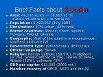 brief facts about slovakia