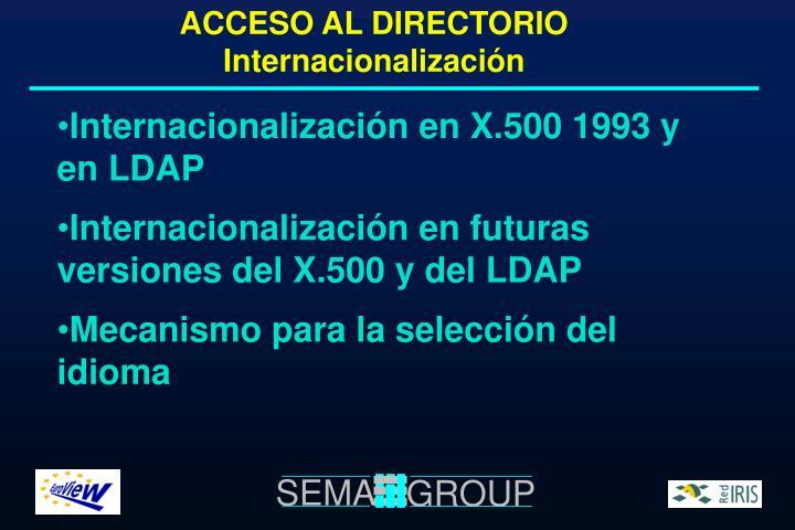 ACCESO AL DIRECTORIO Internacionalización