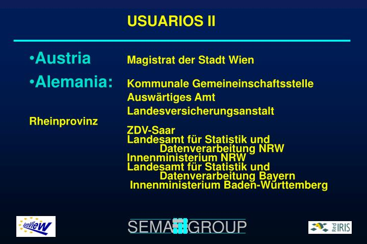 USUARIOS II