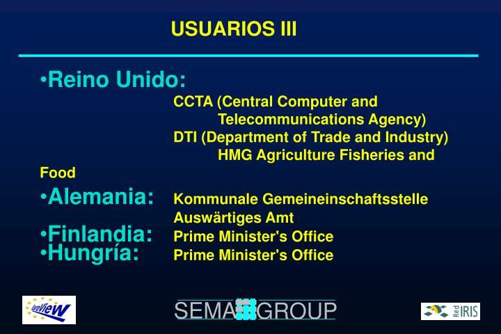 USUARIOS III