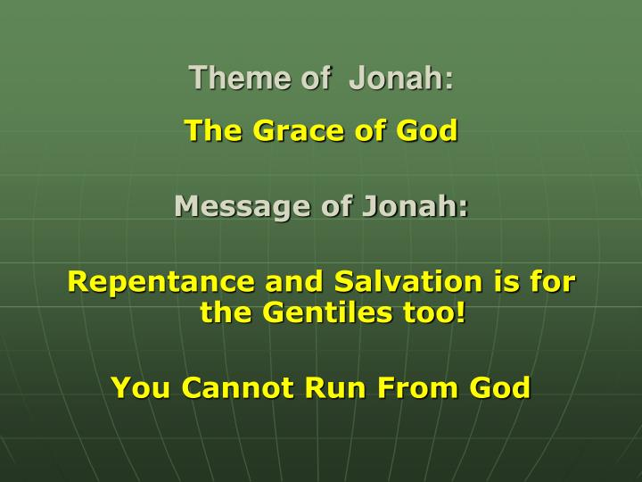 Theme of jonah
