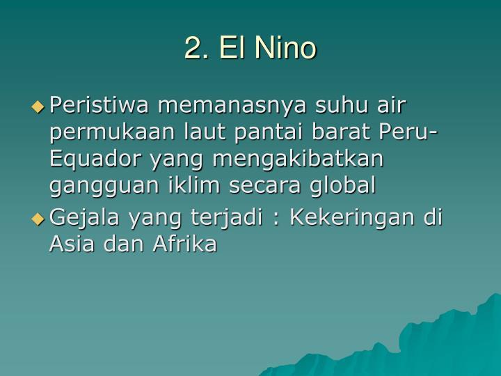 2. El Nino