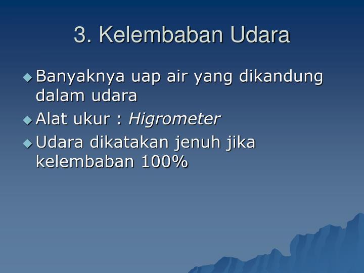3. Kelembaban Udara