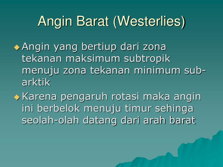 Angin Barat (Westerlies)