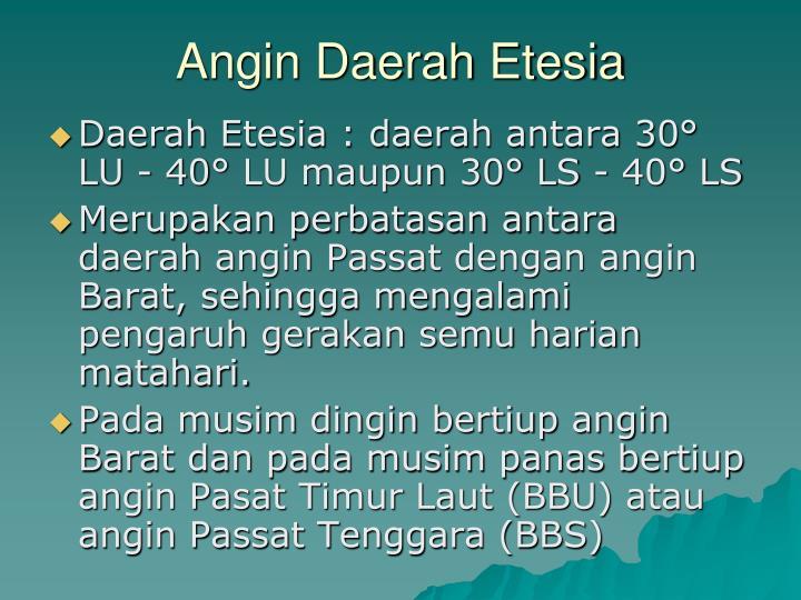 Angin Daerah Etesia