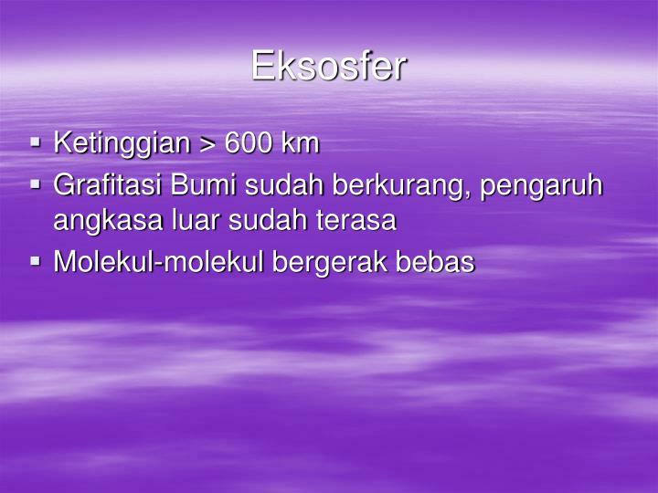 Eksosfer