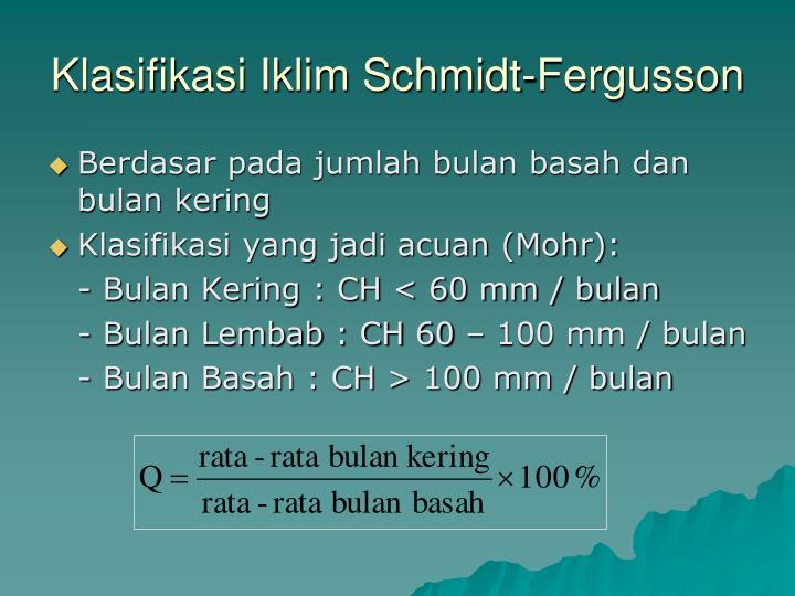 Klasifikasi Iklim Schmidt-Fergusson