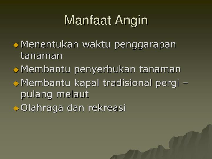 Manfaat Angin