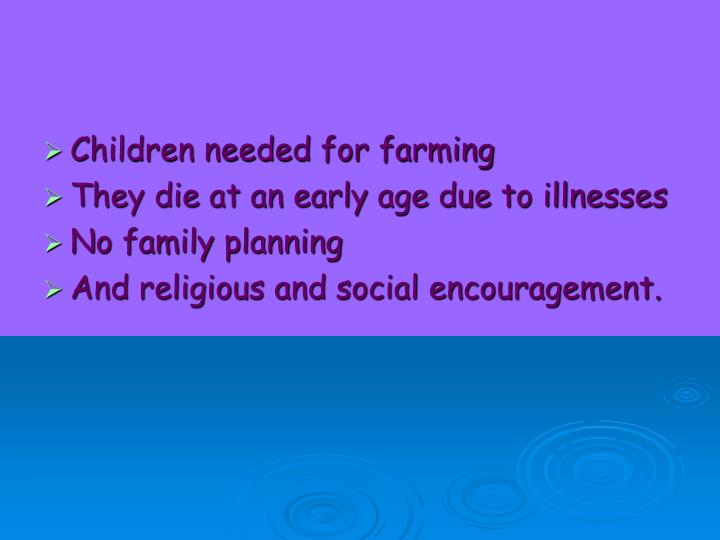 Children needed for farming
