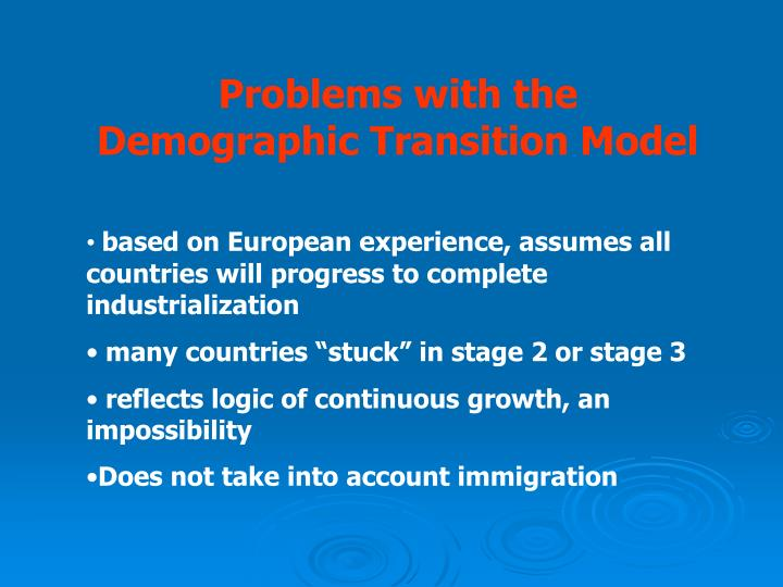Problems with the Demographic Transition Model