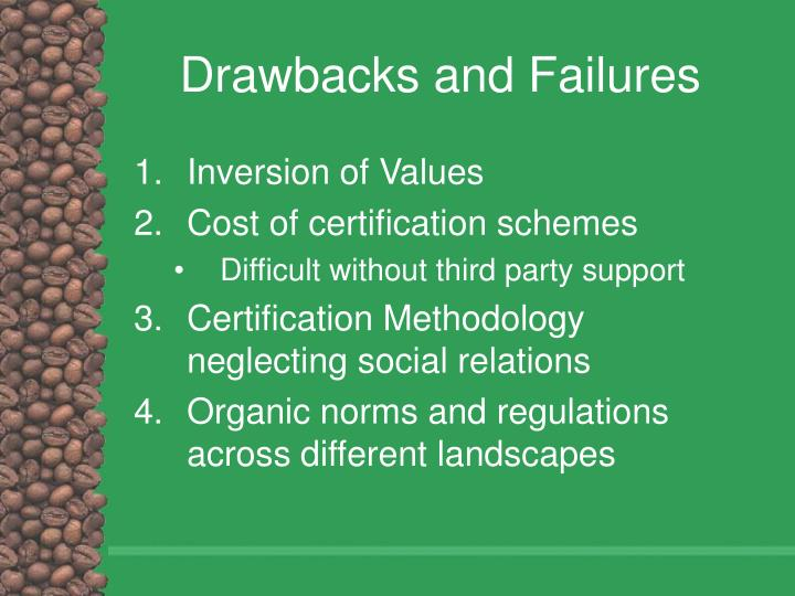 Drawbacks and Failures