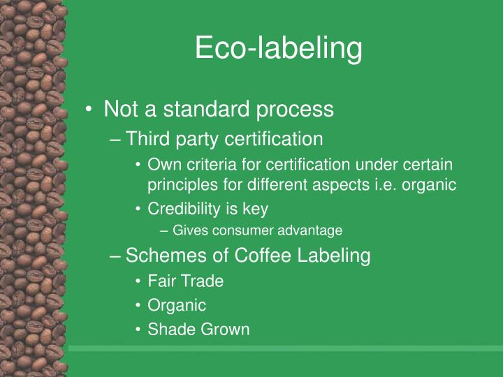 Eco-labeling