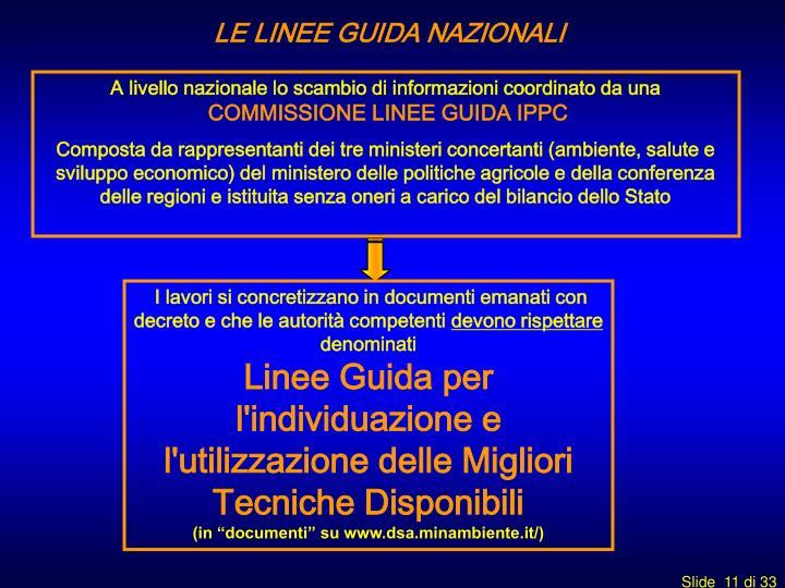 LE LINEE GUIDA NAZIONALI