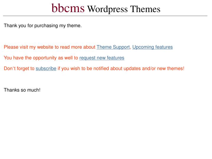 Bbcms wordpress themes