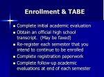 enrollment tabe