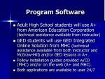 program software