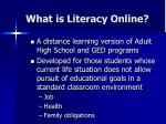 what is literacy online