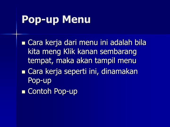 Pop-up Menu
