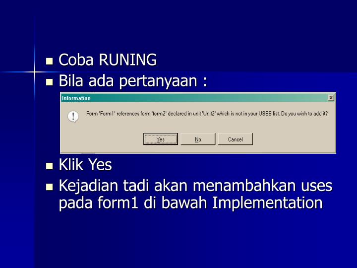 Coba RUNING