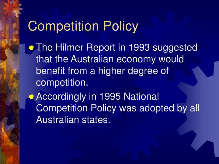 Competition Policy