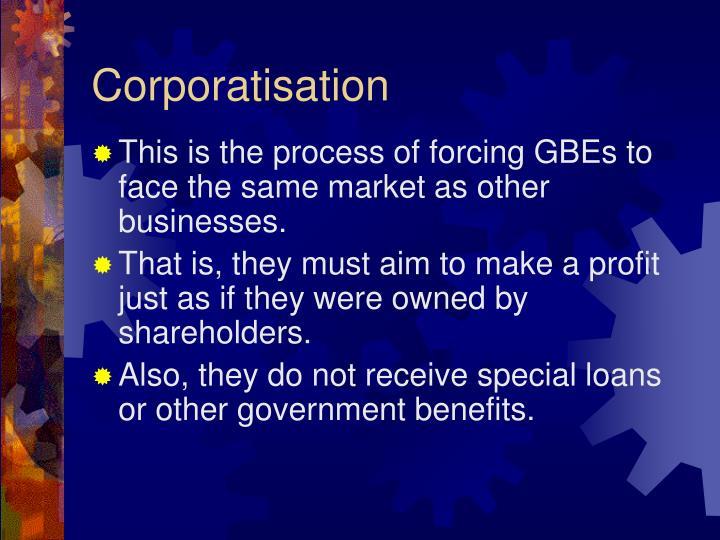 Corporatisation