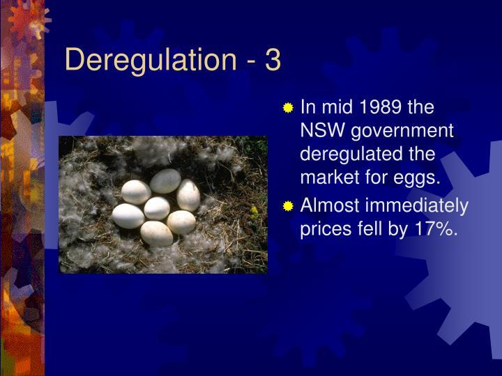 Deregulation - 3