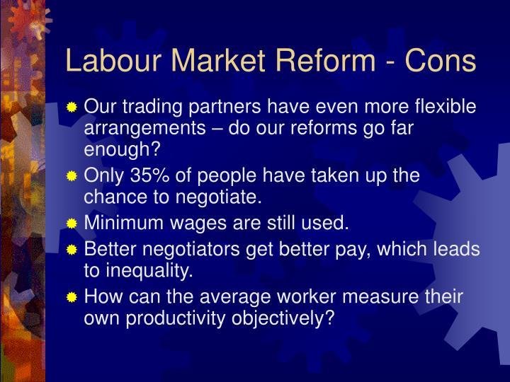 Labour Market Reform - Cons