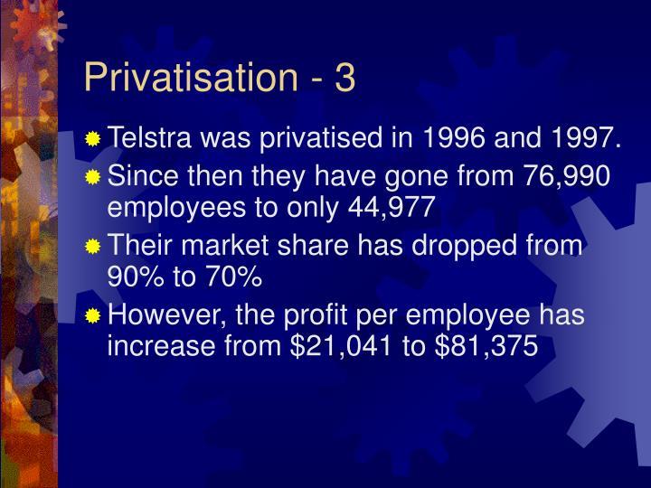 Privatisation - 3
