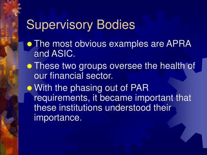 Supervisory Bodies