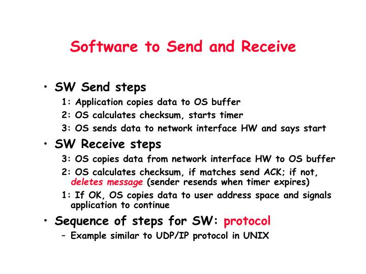 Software to Send and Receive