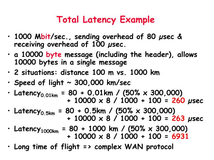 Total Latency Example