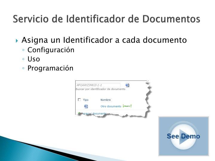 Servicio de Identificador de Documentos