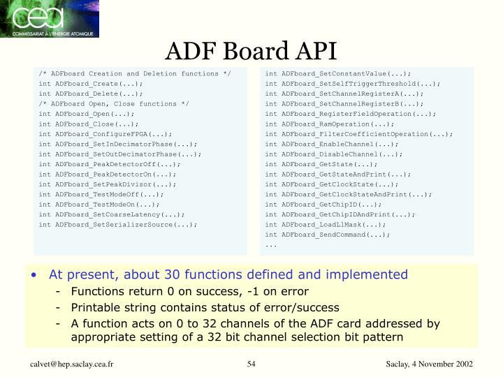 ADF Board API