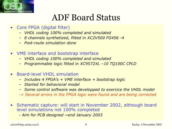 ADF Board Status