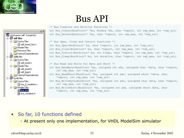 Bus API