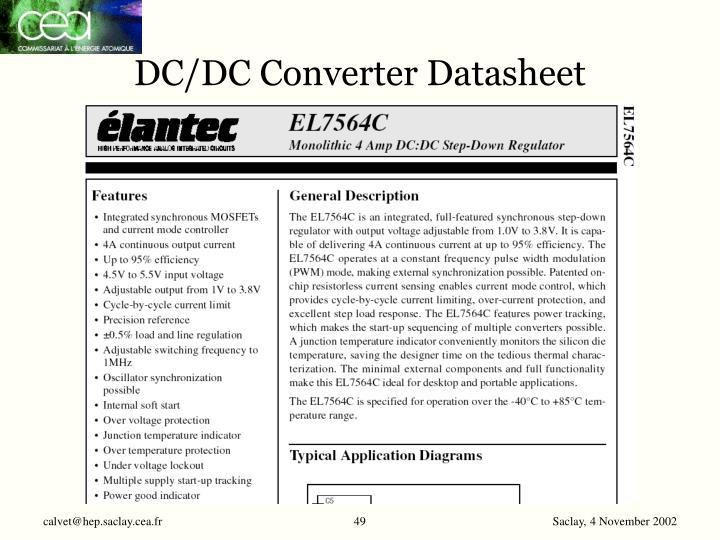 DC/DC Converter Datasheet