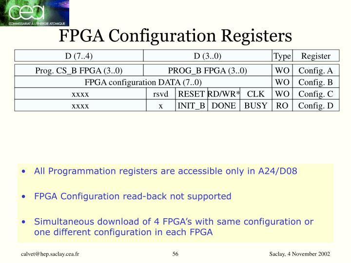 FPGA Configuration Registers