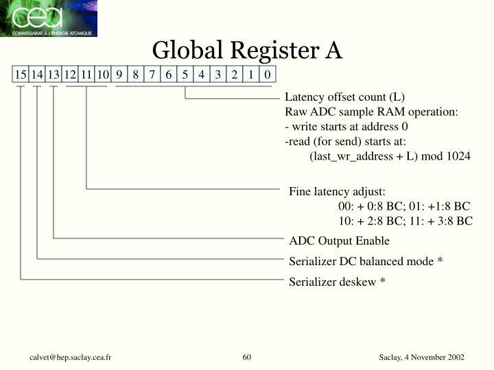 Global Register A