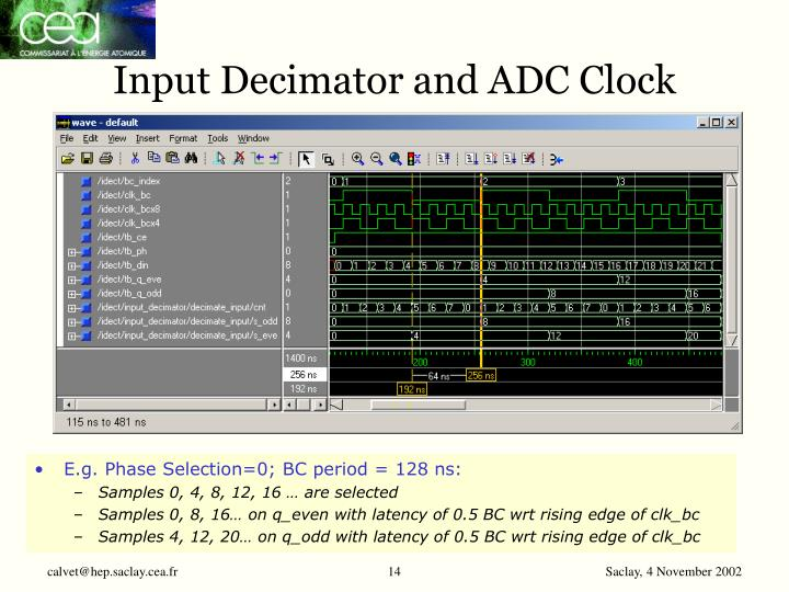 Input Decimator and ADC Clock