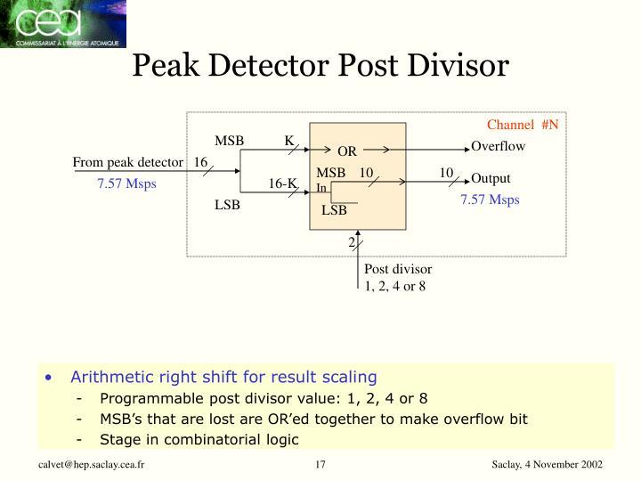 Peak Detector Post Divisor