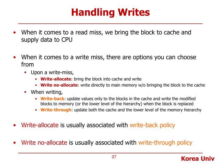 Handling Writes