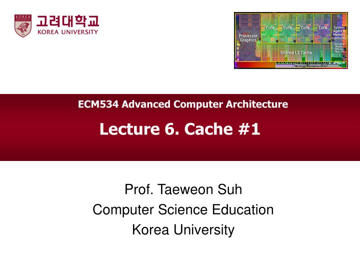 ECM534 Advanced Computer Architecture
